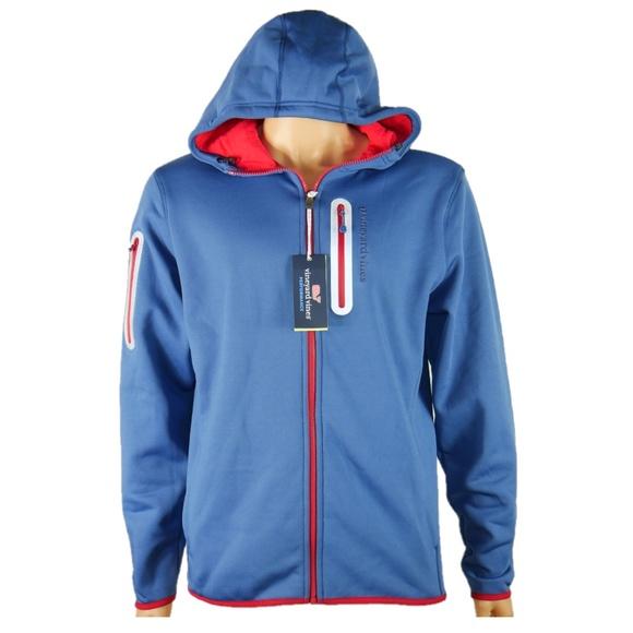 f19e16a7614be Vineyard Vines Jackets & Coats   Mens Performance Hoodie Sz M New ...